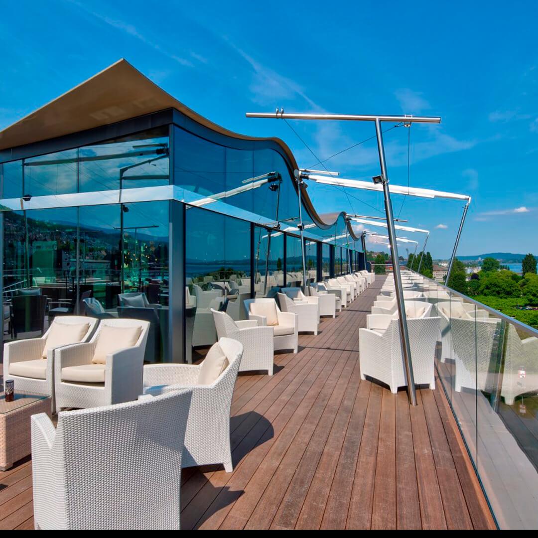 Best Western Premier Hotel Beaulac Außenterrasse