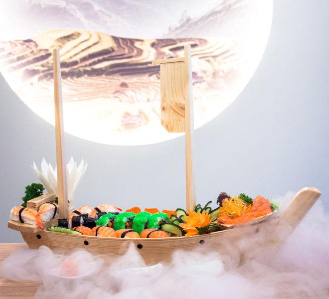 Asiatische Genüsse im Restaurant Lekima
