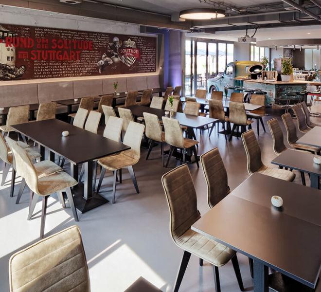 Restaurant im V8 Hotel Motorworld Region Stuttgart